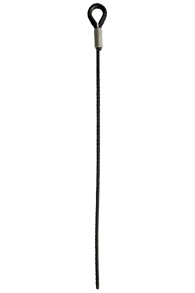 Zwarte kabels 1x kous