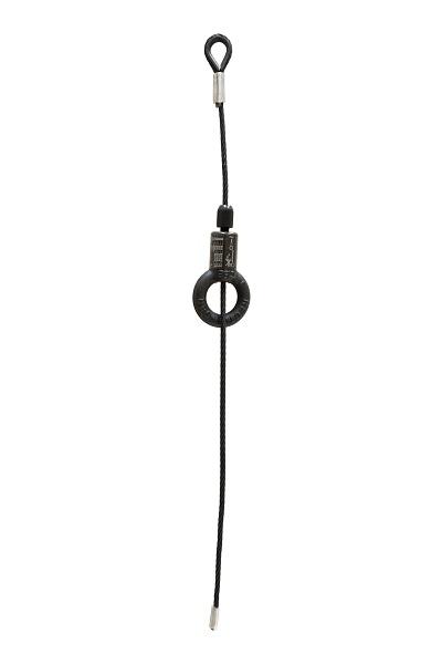 Zwarte kabels met kabelhouder